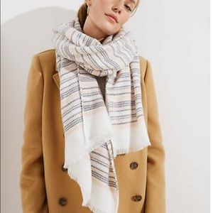 NWT Loft Striped Blanket Scarf